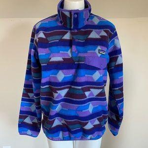 Patagonia Fleece Sz Small Purple Blue Pullover